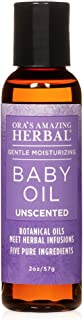Travel Size Baby Oil, Fragrance Free Baby Oil, Ora's Amazing Herbal, Unscented Baby Oil, Formulated with Organic Calendula...