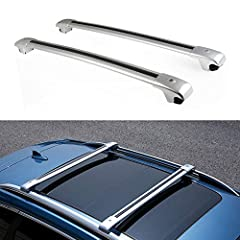 【Our Advantage】 Bars made from high grade aluminum, base feet are made of high quality plastic. They are light weight, easy to install and dismantle. 【Attention & Fitment 】The cross bars roof rack fit for compatible with Volkswagen Touareg 2011-2018,...
