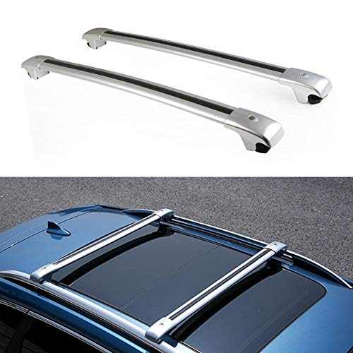 MotorFansClub Roof Racks Crossbars Fit for Compatible with Volkswagen Touareg 2011-2018,Lockable Baggage Luggage Racks Roof Rail Cross Bars(Doesn't Fit Touareg with Open Sunroof!!!)