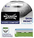 Wilkinson Sword Hydro Comfort Skin Reset - 4 Recambios de Cuchilla de Afeitar para Barba de 3 días