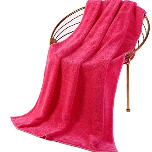 Multifunctionele grote huisdierhanddoek, zachte badhanddoek, super absorberend, hondenhanddoek, microvezel, badjas voor kleine middelgrote en grote huisdieren, 70 x 140 cm, verschillende kleuren, 70cm * 140 cm, roze