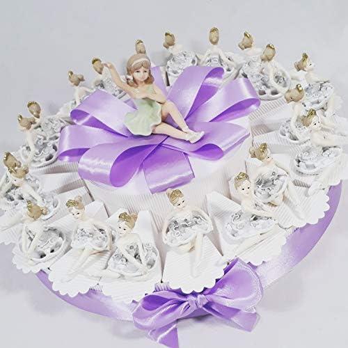 Torte Gastgeschenk Kommunion Taufe mit Ballerina-Unterstützung Torta da 90 fette