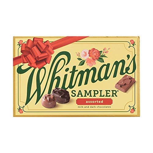 Whitman's Assorted Chocolates Holiday Sampler, 10 Ounce (22 Pieces)
