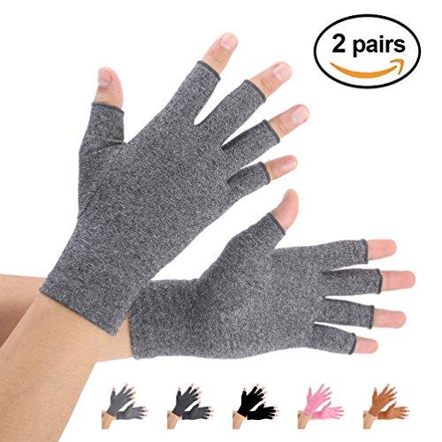 Brace Master Arthritis Handschuhe 2 Paare, Kompression Handschuhe Unterstützung, Gr.-Small, Grau