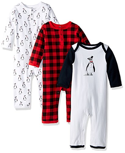 Hudson Baby Unisex Baby Cotton Coveralls, Penguin, 9-12 Months