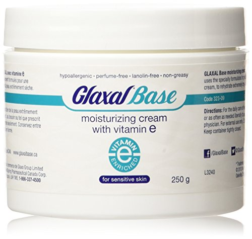 Glaxal Base Moisturizing Cream with Vitamin E, 250 g (8.8 oz)