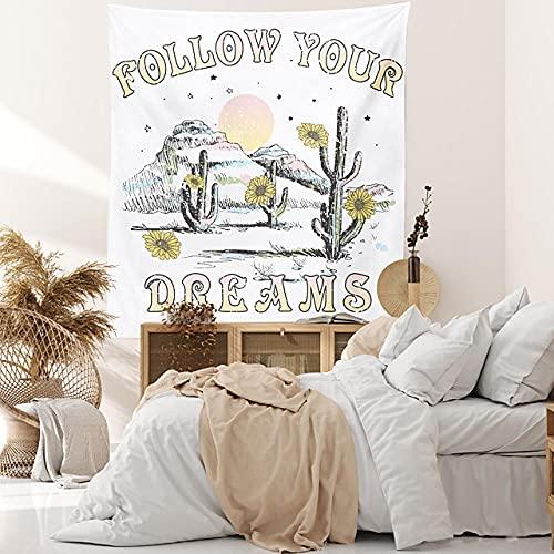 Cactus tapiz de pared decoración artística manta cortina colgante hogar dormitorio decoración de sala de estar H150xW200cm