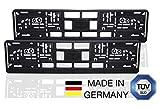 STARMOJI® Kennzeichenhalter Schwarz 2er-Set, für alle PKW´s, Nummernschildhalterung Auto, Nummernschildhalter, Kennzeichen halterungen