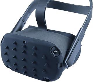 Esimen VR Protection Skin Case for Oculus Quest Skin Shell Cap Mask Pad Premium Silicone Sweat Guard Accessories Anti-Thro...