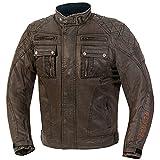 GERMAS 828.94-62-5XL - Chaqueta de cera/algodón para moto,