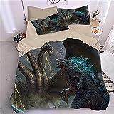 Bedclothes-Blanket Funda nórdica 3D Lila,Sandwer de 4 Piezas de Cama 3D-S_Cama de 2.0m