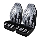 walking dead car seat covers - Pinbeam Car Seat Covers Arrest Zombie Walking at Night Silhouettes for Halloween Businessman Set of 2 Auto Accessories Protectors Car Decor Universal Fit for Car Truck SUV