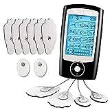 Monlida Electroestimulador Masaje EMS y TENS, 16 Modos 2 Canales, Tens Electroestimulador Fisioterapia