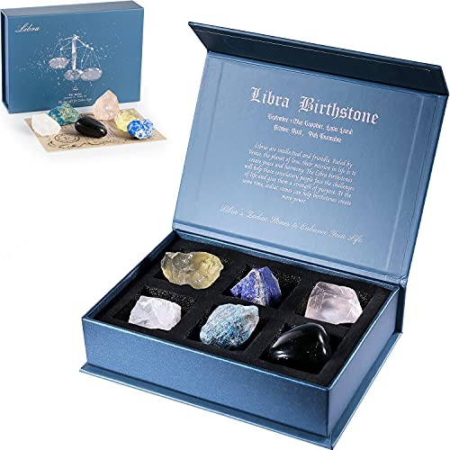 Faivykyd Libra Crystal Gift-Zodiac Sign Stones to Complement The...