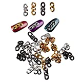 DIY Gold Nail Charms Black Nail Studs Silver Punk Mechanical Metal Chain Nail Decoration Nail Charm Kit 3D Nail Art Jewelry Accessories