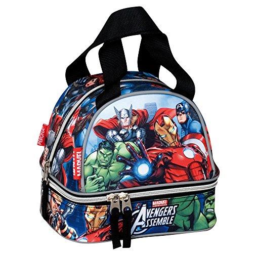 Marvel Avengers Alliance Sac à Dos Parfait pour Un Pique-Nique ou pour Le Rangement du goûter Bleu