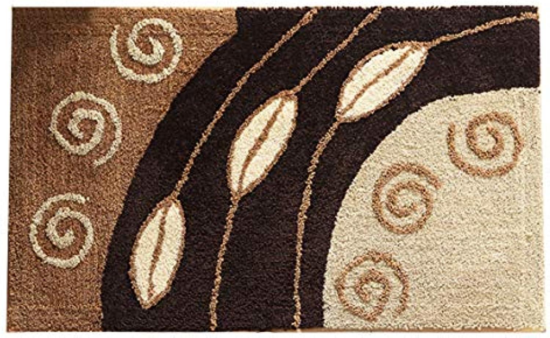 Door mat,Floor mat Non Slip Door mat Entrance Rug Indoor Outdoor mats Rug-Brown 50x80cm(20x31inch)