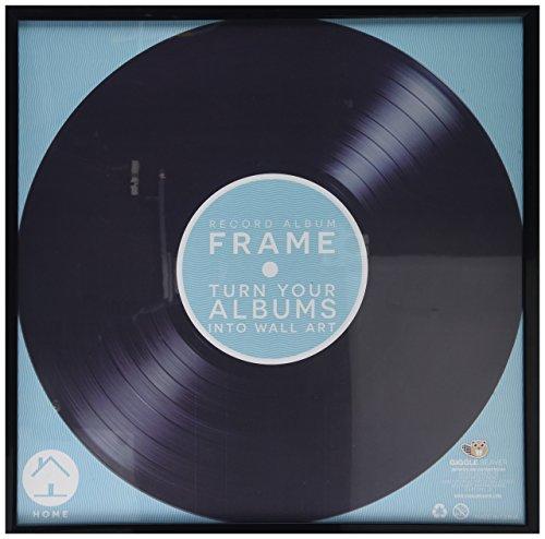 Álbum de discos de vinilo, marco cuadrado, 30 centímetros, 12 pulgadas, color negro, vinilo, negro, 12.8 l x 12.8 h inches