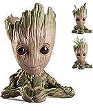 Groot Succulent Guardians of The Galaxy Office Organizer, Abundance Prosperity Heart Shape Groot Flower Pot Best Gift Idea Groot Gifts Valentine Day Gift Pencil Holder (Love)