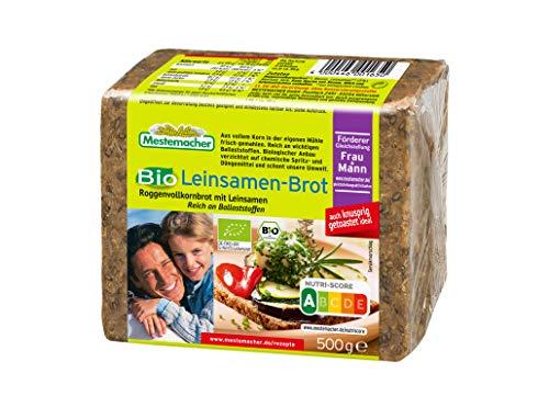 Mestemacher Leinsamen-Brot 500 g Roggenvollkornbrot mit Leinsamen