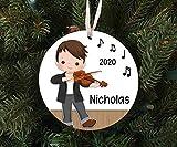 None-brands Weihnachtsdekoration 2020 Weihnachtsmann, Junge spielt die Violine, Ornament, Andenken,...