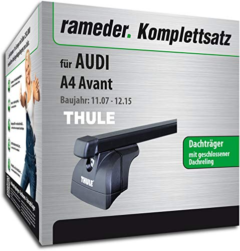 rameder Juego completo, Baca Square Bar para Audi A4Avant (115978–06988–1)