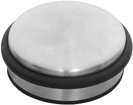 Intersteel Deurstop Puck 90 X 43mm, Roestvast Staal, RVS Geborsteld, Zwart