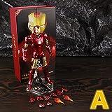 Figura de acción LED Light CLÁSICO HAN Man Man MK3 Mark III 7'Figura de acción de película Ironman Mark 3 Tony Stark Legends ZD Juguetes Modelo de muñeca (Color : LED MK3 A Boxed)