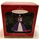 Hallmark 1 X African-American Barbie As The Millennium Princess Ornament