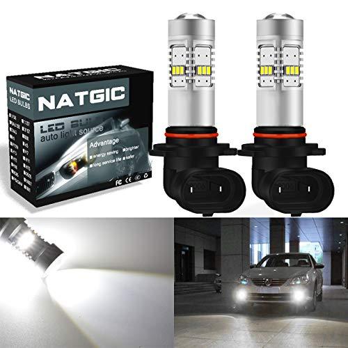 Ngcat 1800 lumens 14 SMD 3020 CREE 9006 HB4 ampoules LED pour feux de brouillard DRL clignotants ampoules Back Up inversée lumières, DC 10–16 V Xenon Blanc (2-Pack)