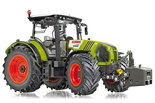 Wiking 077324 Claas Arion 640 Modelltraktor, 1:32, Metall/Kunststoff, Ab 14 Jahre, Viele Funktionen, Pendelachse über Lenkrad steuerbar, Motorhaube zum Öffnen