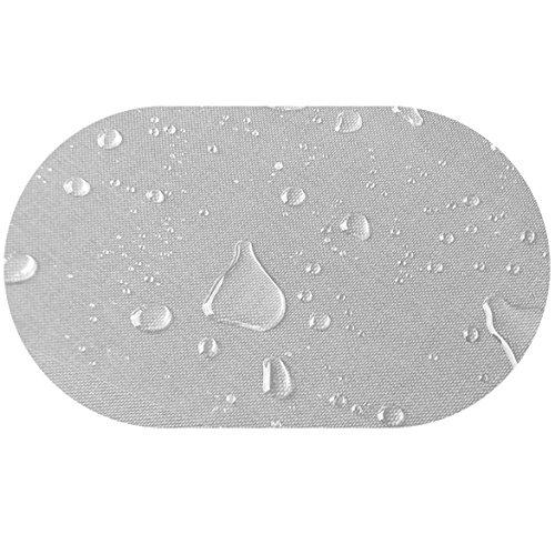 DecoHomeTextil Transparente Folie Tischdeke LFGB RUND OVAL Dicke & Größe wählbar Oval 130 x 180 cm 0,3 mm abwaschbar Tischdecke Lebensmittelecht