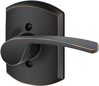 Schlage Lock Company F170MER716GRWRH Merano Right Handed Single Dummy Door Lever with Decorat, Aged Bronze
