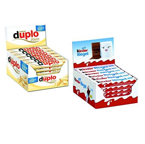 Ferrero Kinder Riegel (36 Stück) und Duplo White (40 Stück)