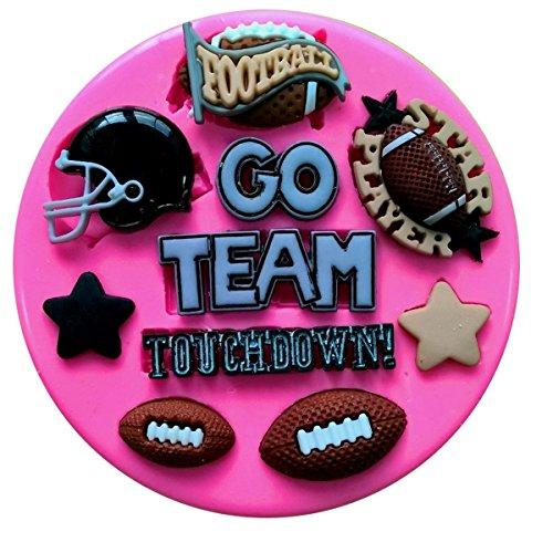 Silikonform mit American Football-Motiven von Fairie Blessings, für Kuchendekorationen aus Zuckerguss und andere Deko-Kreationen