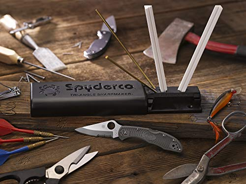 Spyderco Tri-Angle Premium Sharpmaker Set with DVD and Two Sets of Alumina Ceramic Stones - 204MF