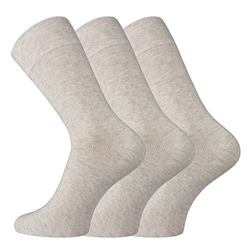 TippTexx24 6/12 Paar Wellnes-Socken aus Bio-Baumwolle mit Anti-Loch-Garantie - Socken für eine bessere Welt(Naturmelange = 12 Paar, 39/42)