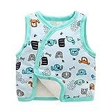 Baby Cartoon Warm Sleeveless Jacket Cotton Vest Fall Winter Children Waistcoat ( Color : ST4 , Size : 6-9 Months )