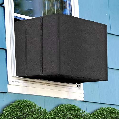 Aozzy Air Conditioner Covers for Window Units Ac Covers for Outside Unit Winter Outdoor Heavy Duty Waterproof Insulation Defender with Adjustable...
