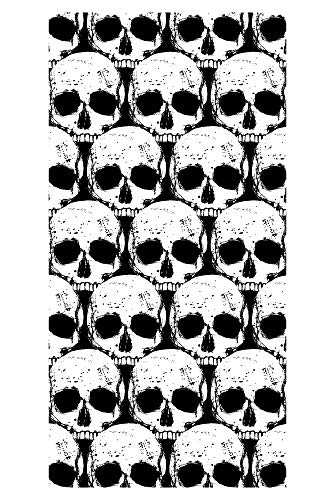 LimeWorks Badetuch, 70x140 cm, Totenkopf-Muster, Made in EU