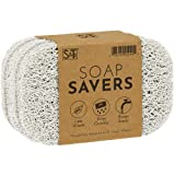 S&T INC. 529901 BPA-Free Soap Savers for Kitchen and Bathroom, White, 2.9 Inch x 4.4 Inch, 6 Pack