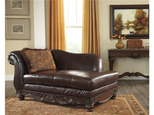 Hot Sale North Shore Plus Coffee Tone Leather DuraBlend Upholstered LAF Corner Chaise