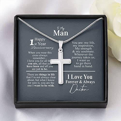1st Anniversary Jewelry for Him, 1 Year Anniversary ,Gift for...