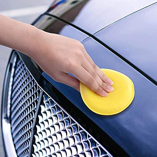 Aplicador de Esponja de Microfibra Almohadillas Aplicador de Cera Coche Esponja de Pulido Cera Cuidado AutomóVil para Ceras Abrillantadores Limpiador de Pintura Abrillantador de AutomóViles 12 Piezas