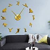 LIUXU Reloj de Pared de acrílico de Mono y orangután, Reloj de Cuarzo con Animales de Mono del Viejo Mundo, Regalo para niños