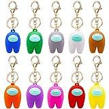 SZWL Keychains, 10 Pieces Plastic Keychains Key Tag, Key Pendants Key Ring Keychain for Bags Backpacks