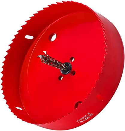 6 Inch Hole Saw for Making Cornhole Boards - Heavy Duty Steel - Corn Hole Drilling Cutter & Hex Shank Drill Bit Adapter for Cornhole Game