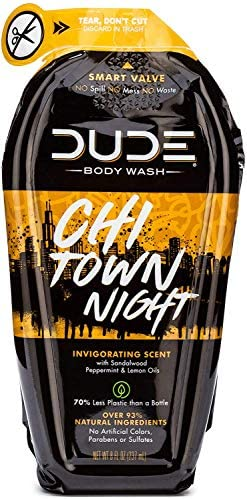 Dude Products Body wash natural castile soap for men reduced plastic squeeze bottle chi town product image