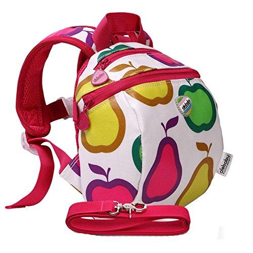 Moonwind bambini impermeabili del cablaggio del bambino zaino dei bambini del sacchetto di sicurezza del bambino con il guinzaglio (Frutta)