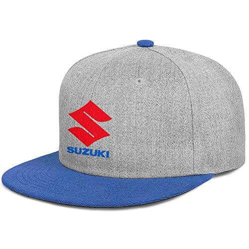 Verodley Unisex Suzuki Baseball Caps Flat Brim Adjustable Snapback Caps Flat Bill Dad-Hat Trucker Hat